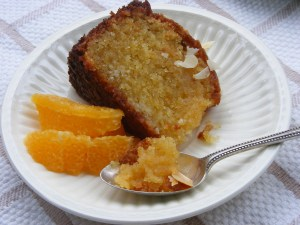 Almond orange cake & orange slices