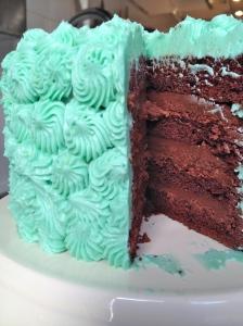 Chocolate cake with liquorice