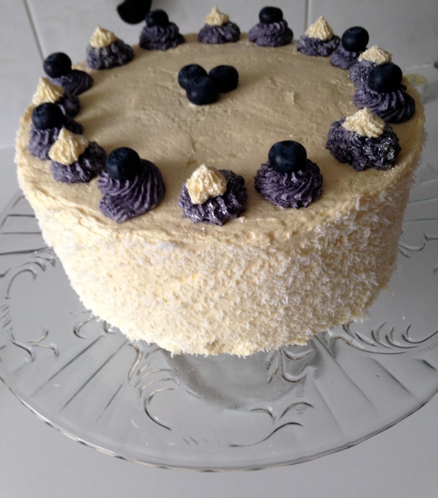 Lemon Blueberry Swirl Cake