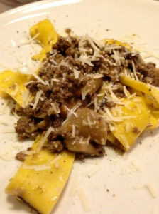 Papardelle with rabbit ragu