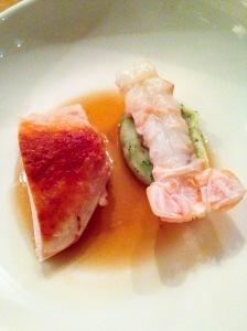 Kemper chicken & langoustine